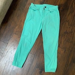 Gap Premium Super Skinny Crop Turquoise Jeans